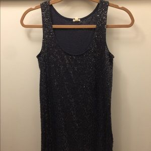 J. Crew Women's Dark Gray Sequin Tank Top Size XS